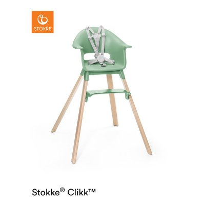Chaise haute bébé clikk vert trèfle Stokke