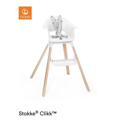 Chaise haute bébé clikk blanc Stokke