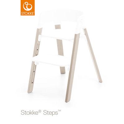 Pieds pour la chaise haute steps hêtre blanchi Stokke
