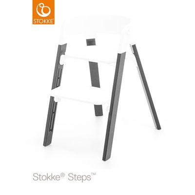 Pieds pour la chaise haute steps hêtre gris tempête Stokke