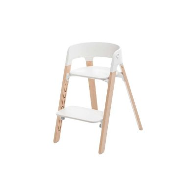 stokke chaise haute b b volutive steps naturel. Black Bedroom Furniture Sets. Home Design Ideas