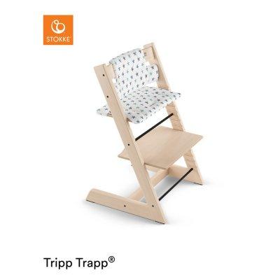 Coussin fauteuil bébé tripp trapp étoiles bleues Stokke