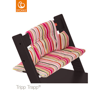 Coussin fauteuil bébé tripp trapp rayures bonbon Stokke