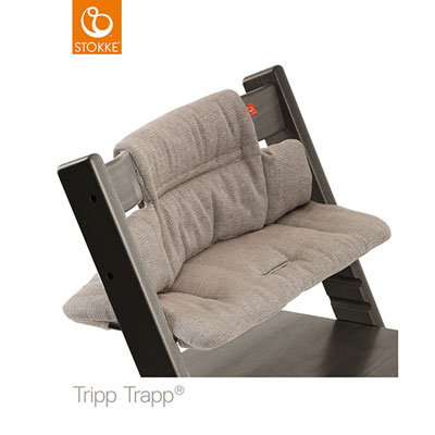 Coussin fauteuil bébé tripp trapp tweed brume Stokke