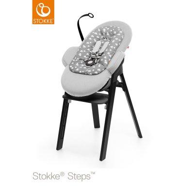 Transat bébé steps gris nuage Stokke