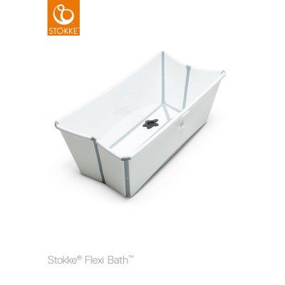 Baignoire bébé + transat de bain flexi bath blanc Stokke