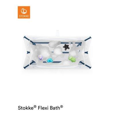 Baignoire bébé flexibath transparent bleu Stokke