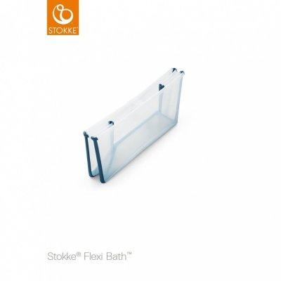 Baignoire bébé flexibath x large transparent bleu Stokke