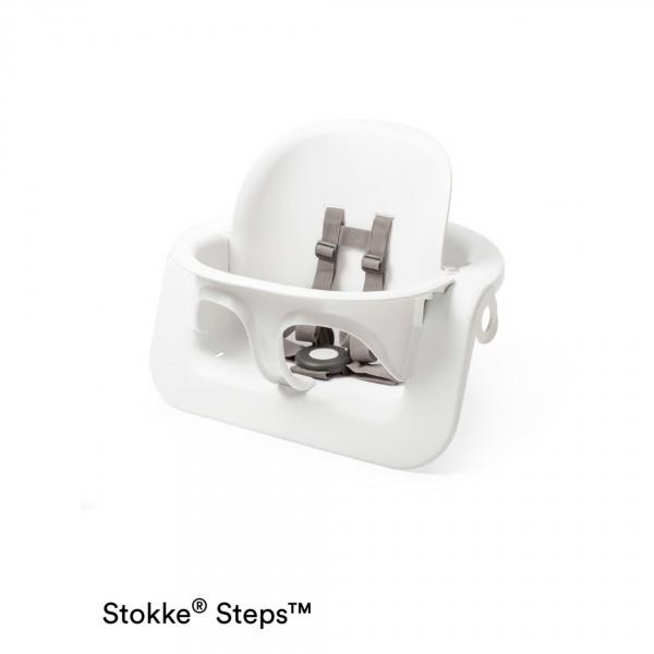 si ge stokke steps baby set blanc sur allob b. Black Bedroom Furniture Sets. Home Design Ideas