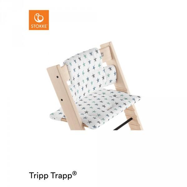 Coussin fauteuil b b tripp trapp toiles bleues sur allob b for Fauteuil auto bebe