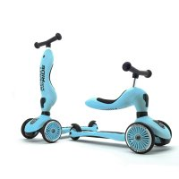 Porteur 2 en 1 évolutif en trottinette highwaykick 1 blueberry