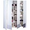 Armoire 3 portes city gris Sauthon meubles