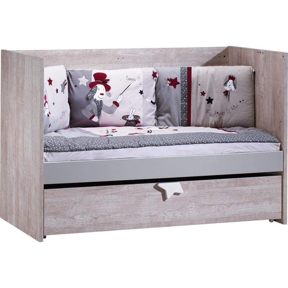 lit b b 70x140 volutif 90x200 et140x200 nova de sauthon meubles sur allob b. Black Bedroom Furniture Sets. Home Design Ideas