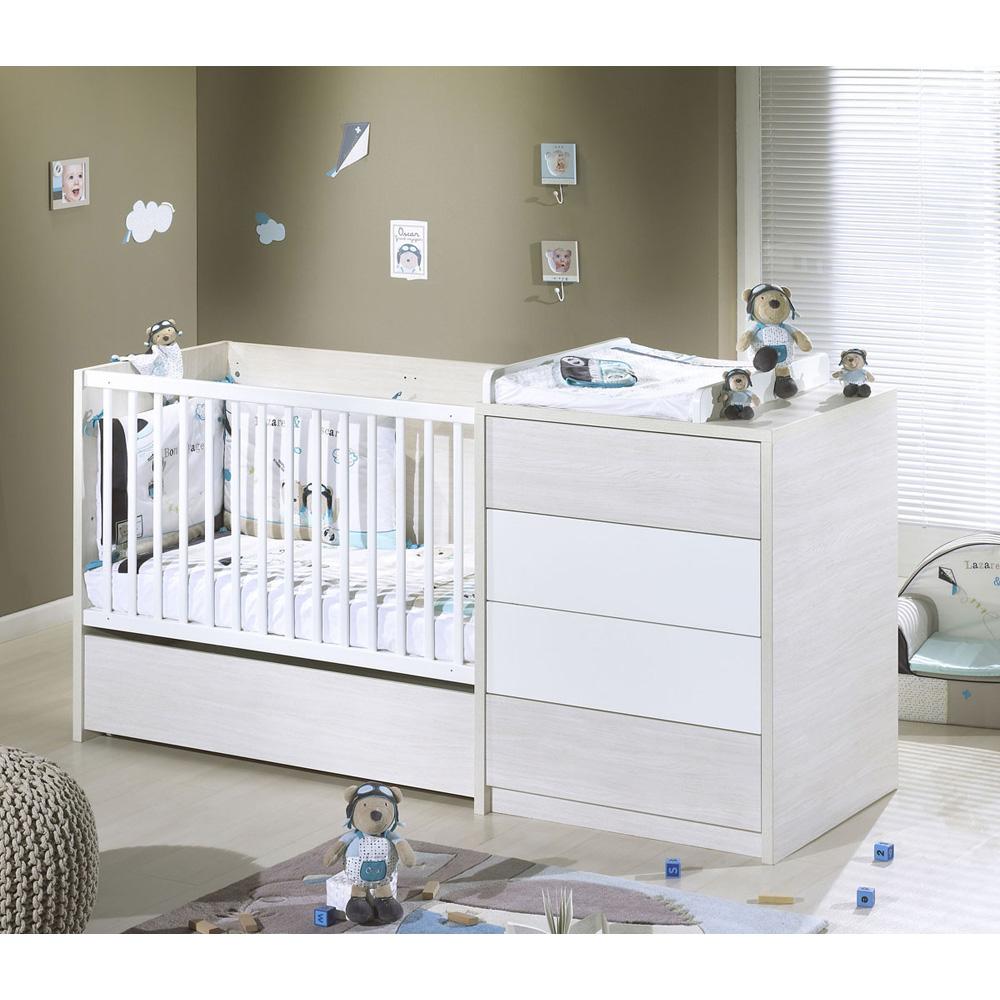 lit b b 60 x 120 cm transformable opale blanc sans motif 30 sur allob b. Black Bedroom Furniture Sets. Home Design Ideas