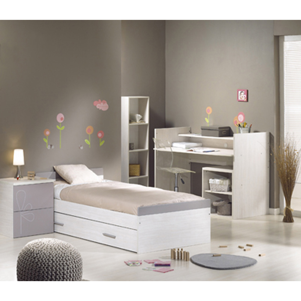 lit b b 70 x 140 cm transformable opale taupe avec motif chez allob b. Black Bedroom Furniture Sets. Home Design Ideas