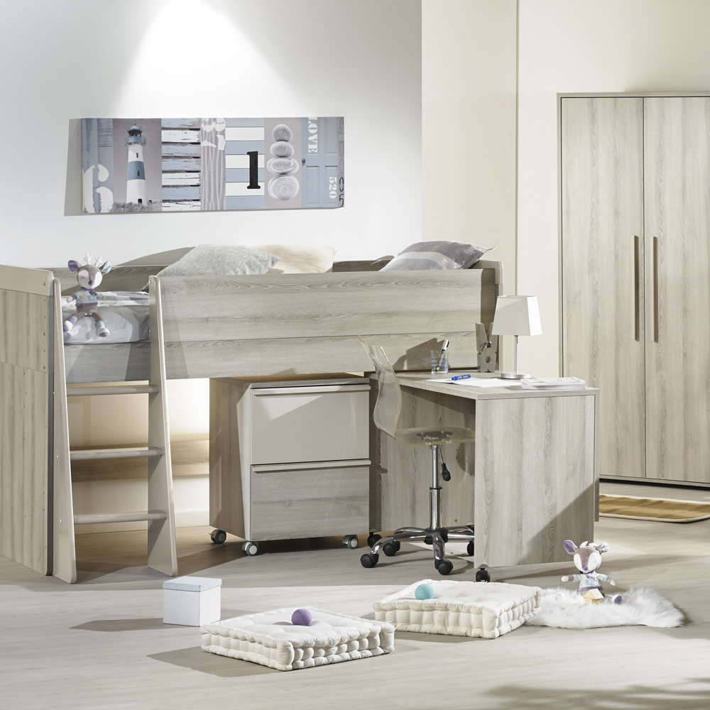 Lit chambre transformable 70x140cm xxl de sauthon meubles - Meuble transformable ...