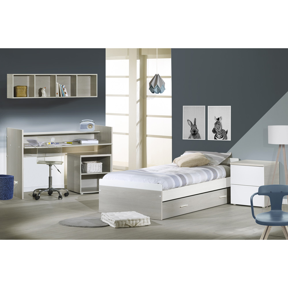 Lit chambre transformable 70x140cm opale fr ne sabl sans motif de sauthon meubles sur allob b - Lit chambre transformable ...