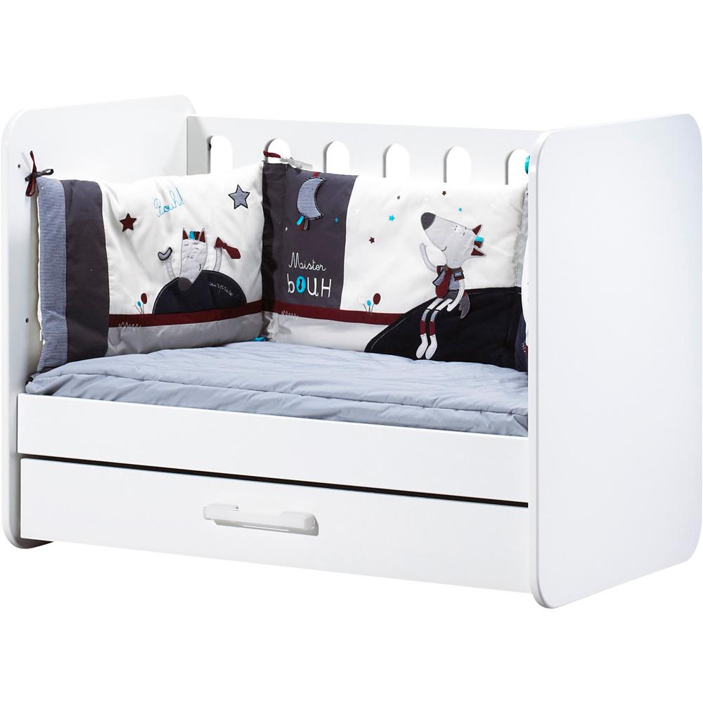 Chambre b b duo astride blanc lit et armoire 3 portes 30 for Chambre lit et armoire