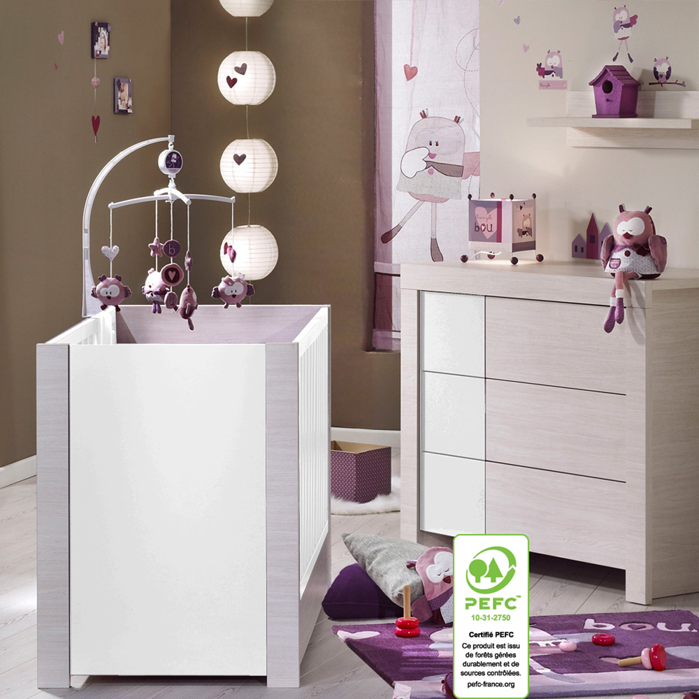 Chambre bebe opale taupe - Commode chambre fille ...