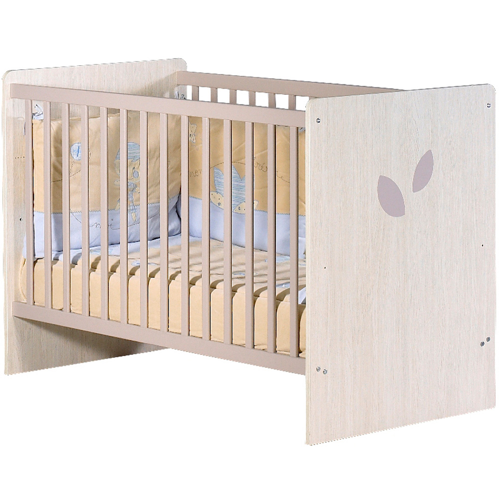 Chambre bebe leaf taupe for Pochoir pour chambre bebe
