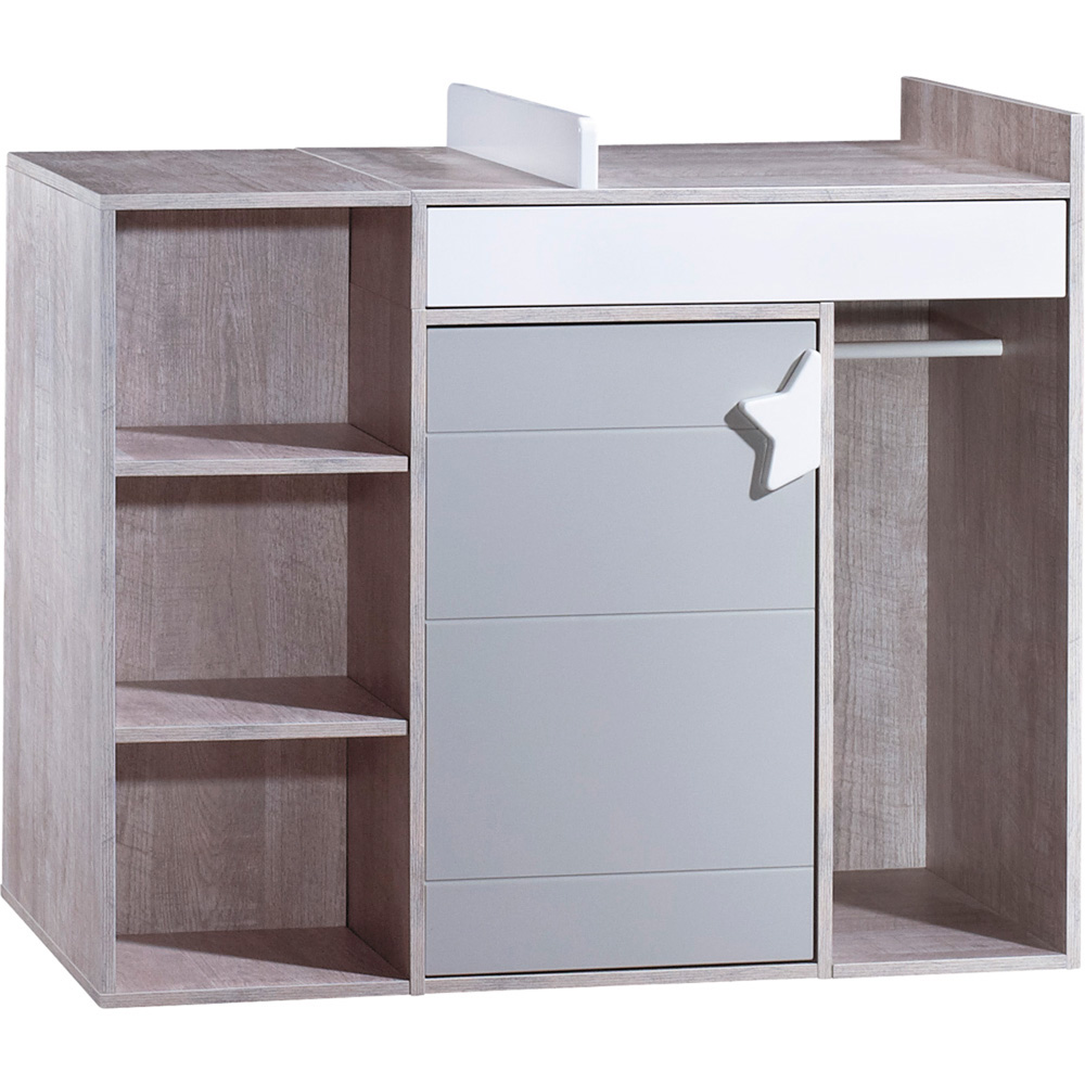 Commode langer volutive en bureau nova de sauthon for Meuble a langer