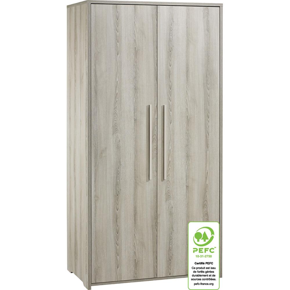 Armoire chambre b b 2 portes xxl de sauthon meubles sur for Lit xxl sauthon
