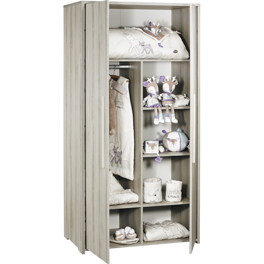 armoire chambre b b 2 portes xxl de sauthon meubles sur. Black Bedroom Furniture Sets. Home Design Ideas