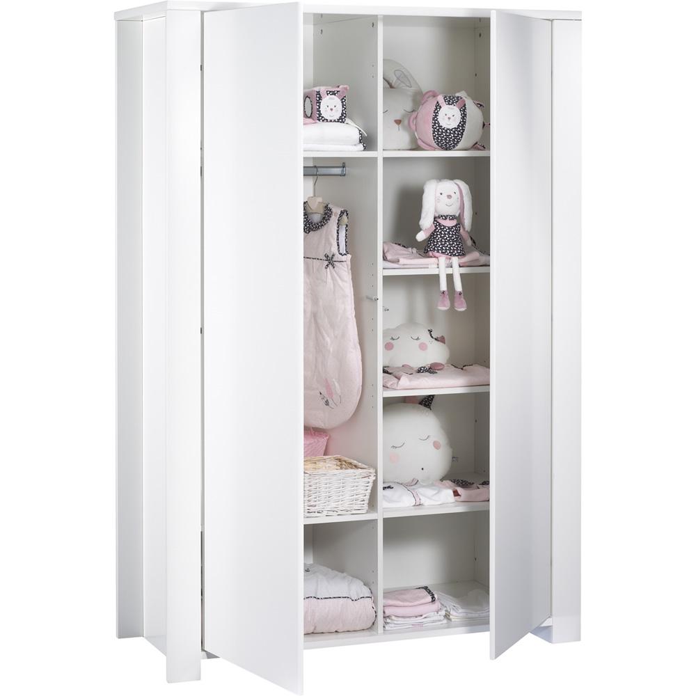 armoire chambre b b loft blanc de sauthon meubles sur allob b. Black Bedroom Furniture Sets. Home Design Ideas