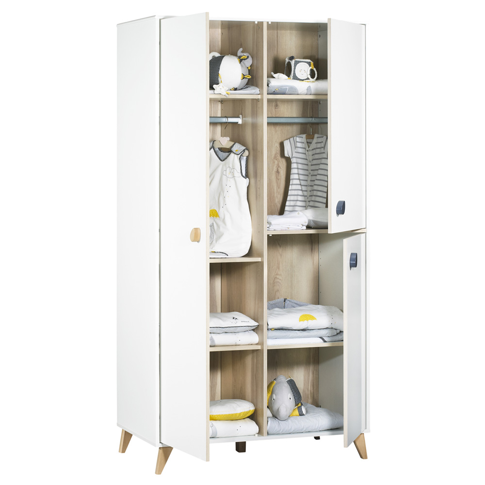armoire chambre b b oslo boutons goutte de sauthon meubles sur allob b. Black Bedroom Furniture Sets. Home Design Ideas