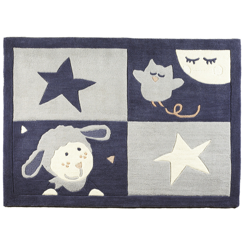 tapis de chambre b b 130x90cm merlin de sauthon baby deco chez naturab b. Black Bedroom Furniture Sets. Home Design Ideas