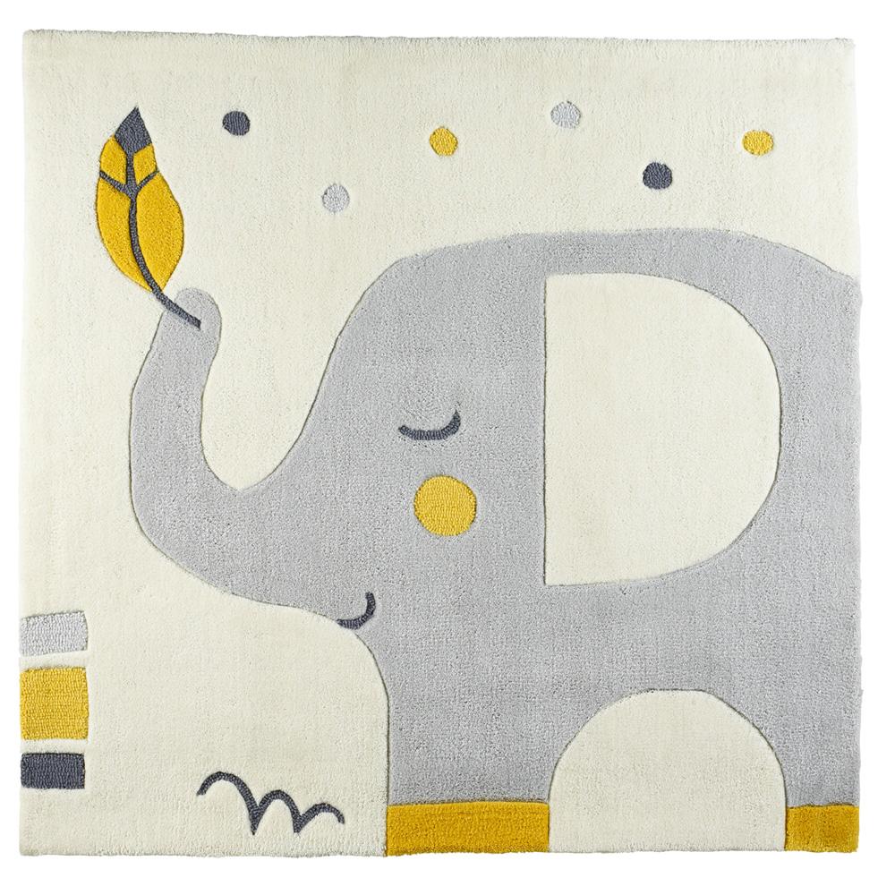 tapis de chambre bb 110x110cm babyfan de sauthon baby deco sur allobb - Tapis De Chambre