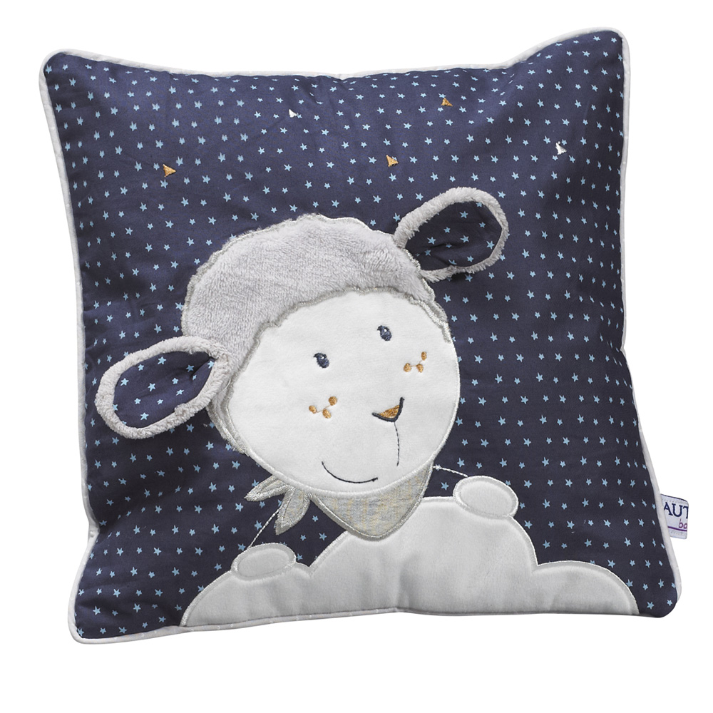 coussin d co merlin 30x30cm de sauthon baby deco chez naturab b. Black Bedroom Furniture Sets. Home Design Ideas