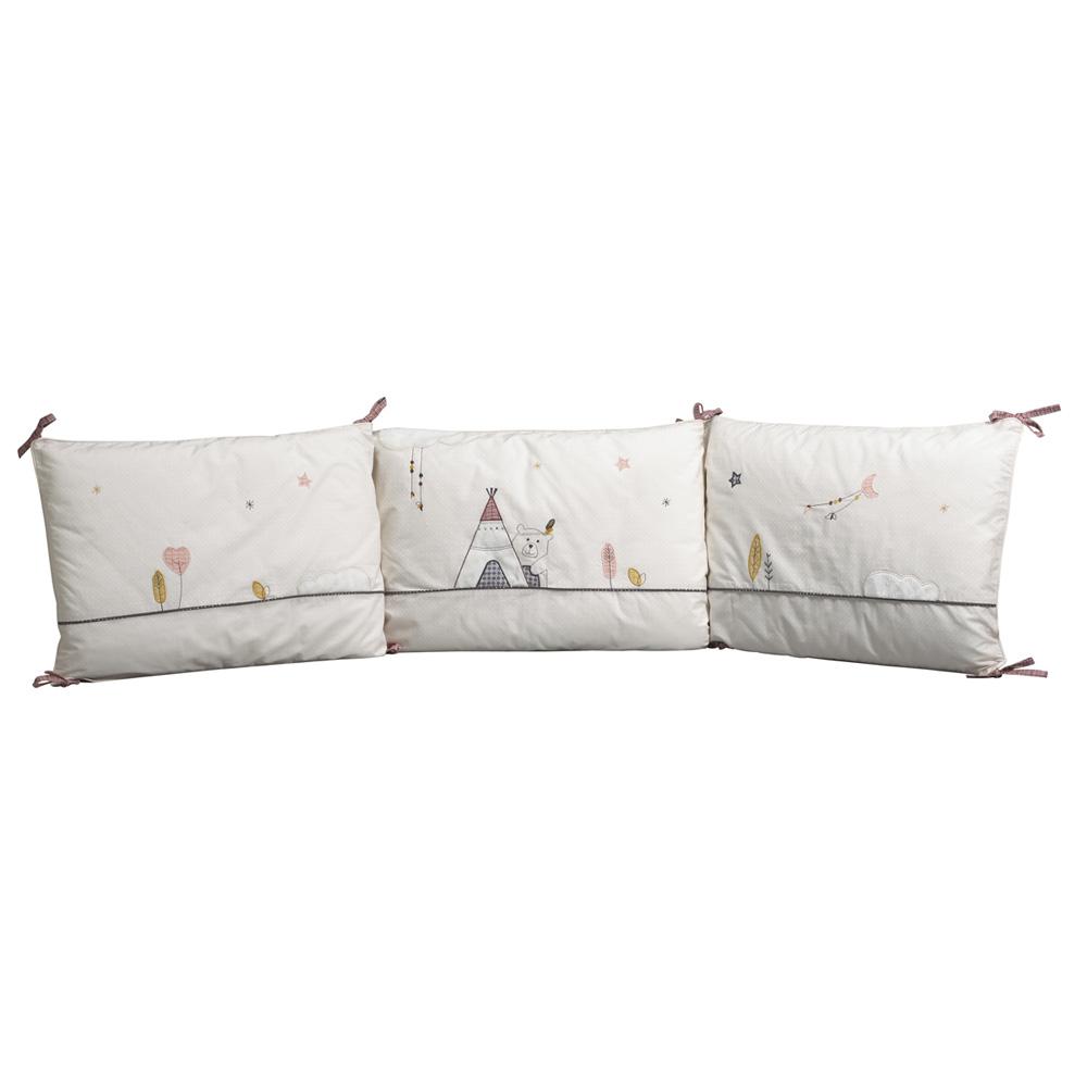 tour de lit b b timouki de sauthon baby deco chez naturab b. Black Bedroom Furniture Sets. Home Design Ideas