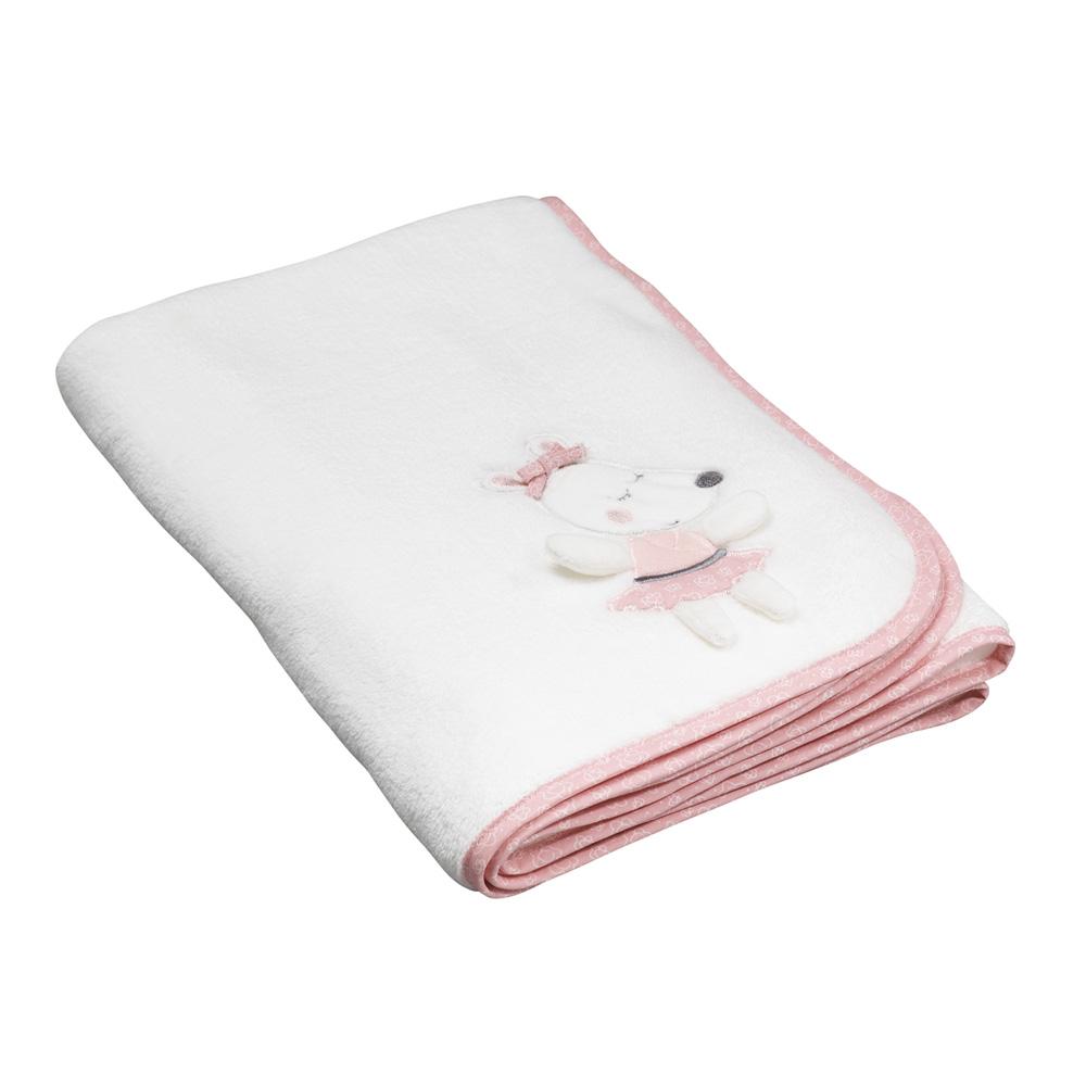 couverture lit b b 75x100cm lilibelle de sauthon baby deco chez naturab b. Black Bedroom Furniture Sets. Home Design Ideas