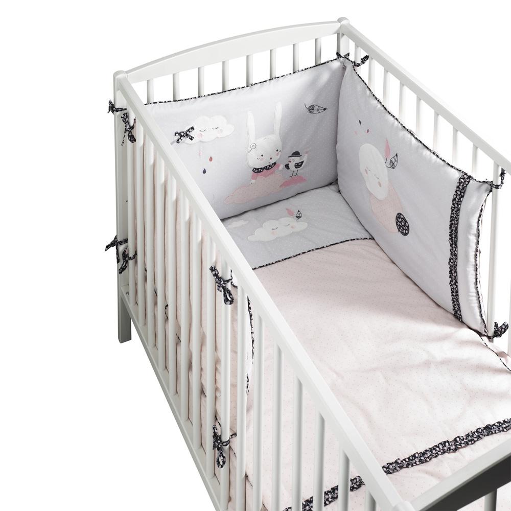 chipie linge de lit Edredon bébé 60x120cm miss chipie de Sauthon baby deco en vente  chipie linge de lit