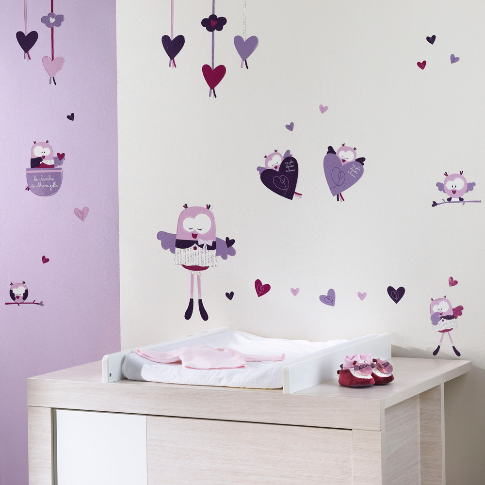 stickers muraux mam 39 zelle bou de sauthon baby deco en vente chez cdm. Black Bedroom Furniture Sets. Home Design Ideas