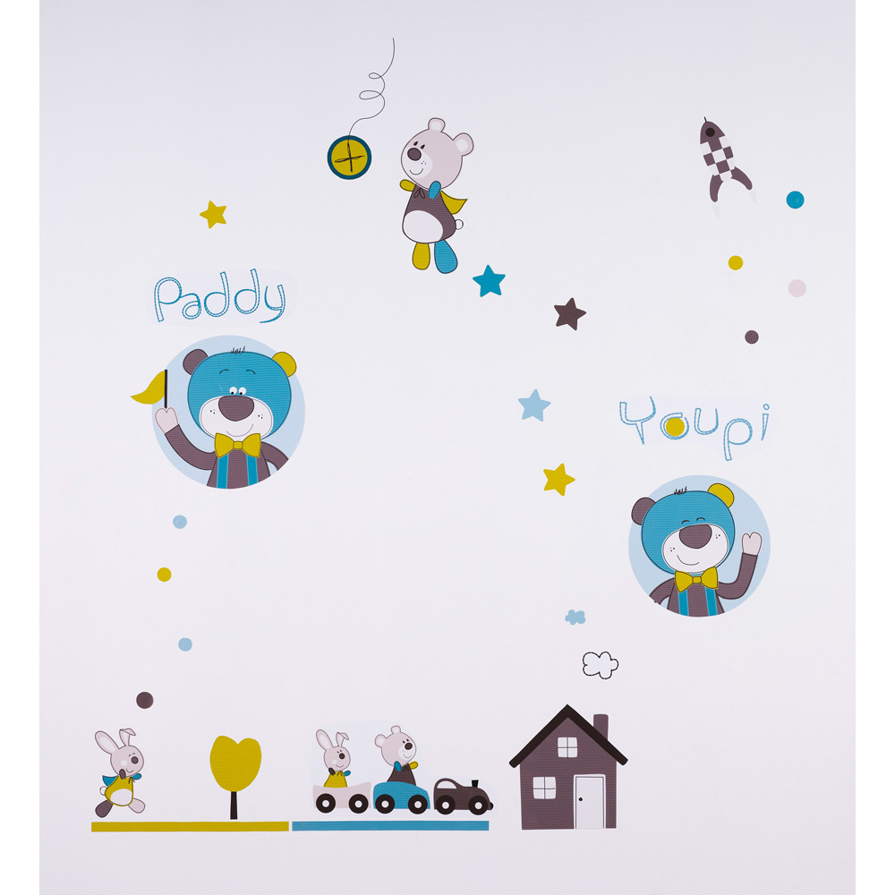 stickers chambre b b paddy de sauthon baby deco sur allob b. Black Bedroom Furniture Sets. Home Design Ideas