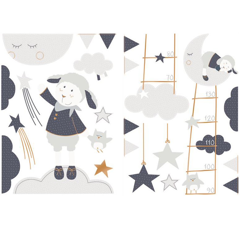 stickers chambre b b merlin de sauthon baby deco sur allob b. Black Bedroom Furniture Sets. Home Design Ideas