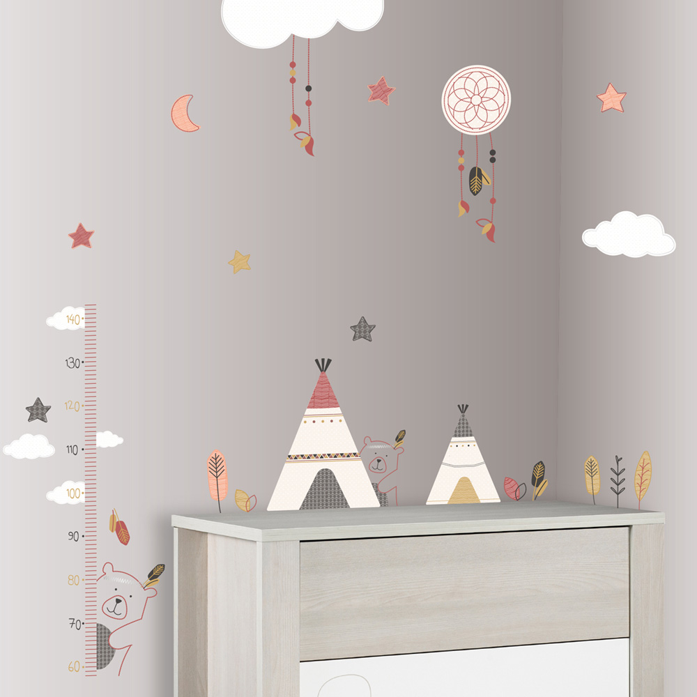 stickers chambre b b timouki de sauthon baby deco chez naturab b. Black Bedroom Furniture Sets. Home Design Ideas
