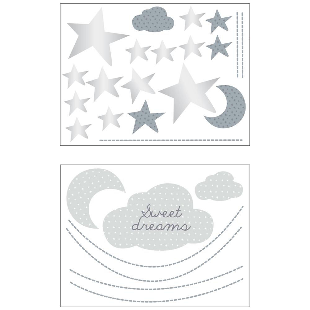 Chambre Bébé Xxl : Stickers chambre bébé xxl nuage céleste de sauthon baby