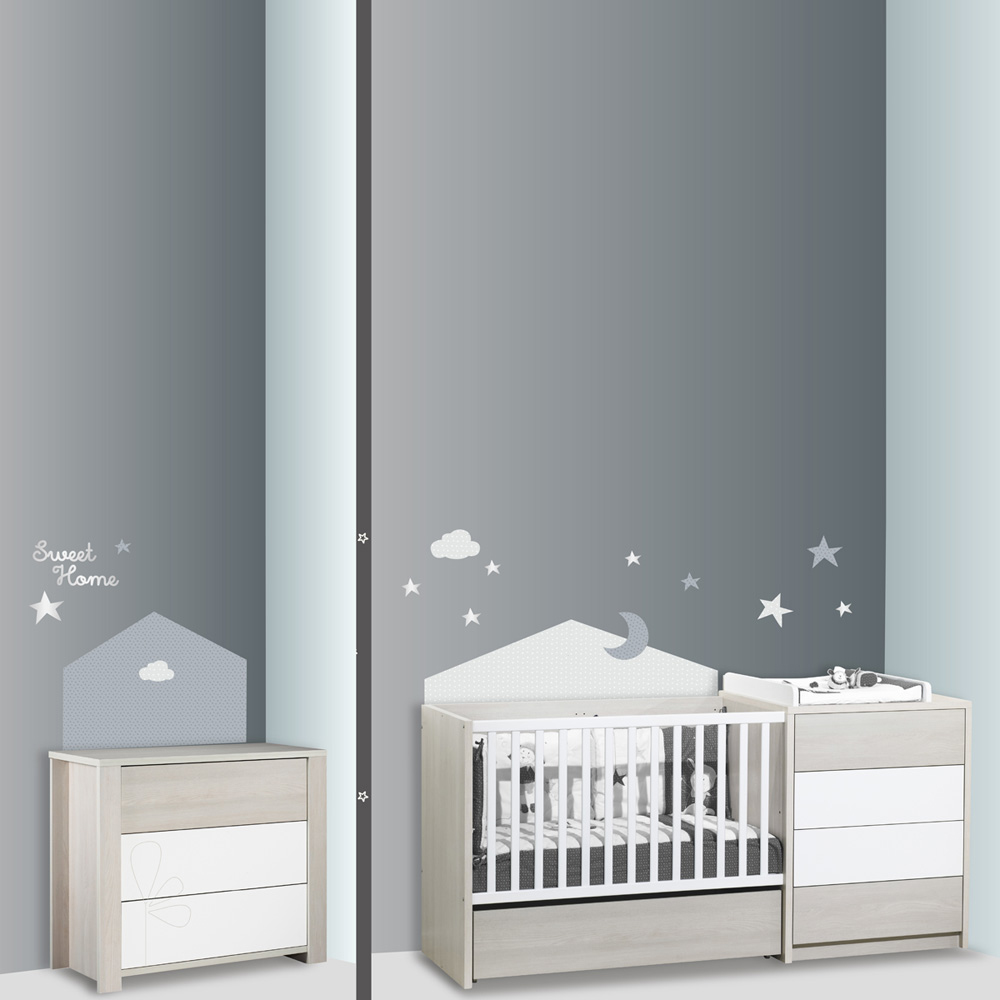 stickers chambre b b home c leste de sauthon baby deco. Black Bedroom Furniture Sets. Home Design Ideas