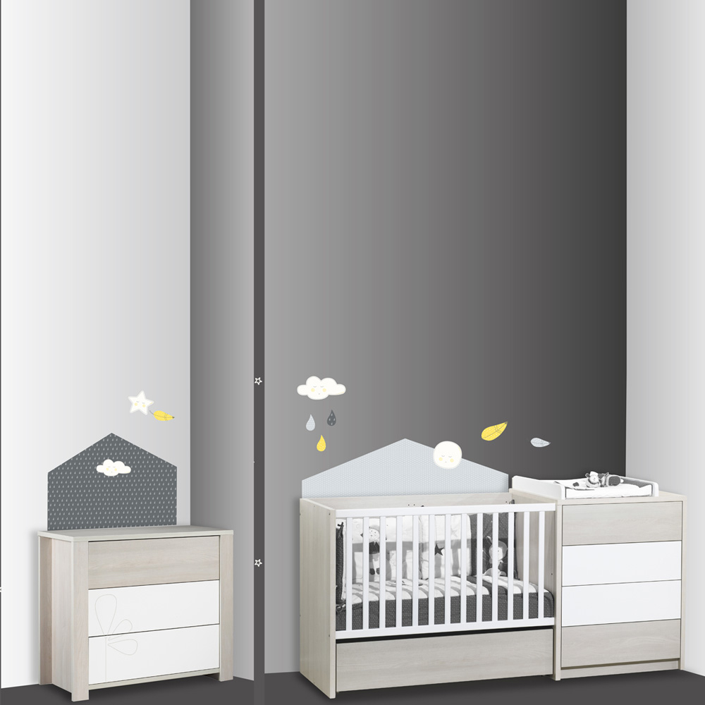 stickers chambre b b home babyfan de sauthon baby deco sur allob b. Black Bedroom Furniture Sets. Home Design Ideas