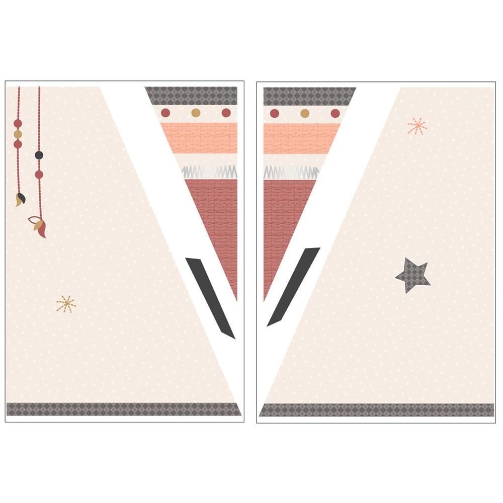 sticker chambre b b xxl tipi timouki de sauthon baby deco sur allob b. Black Bedroom Furniture Sets. Home Design Ideas