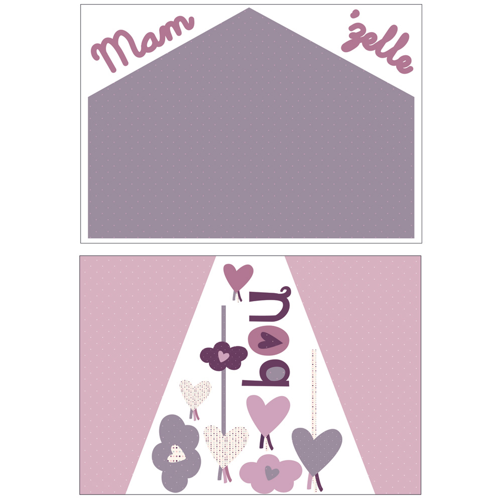 stickers chambre b b home mam 39 zelle bou de sauthon baby. Black Bedroom Furniture Sets. Home Design Ideas