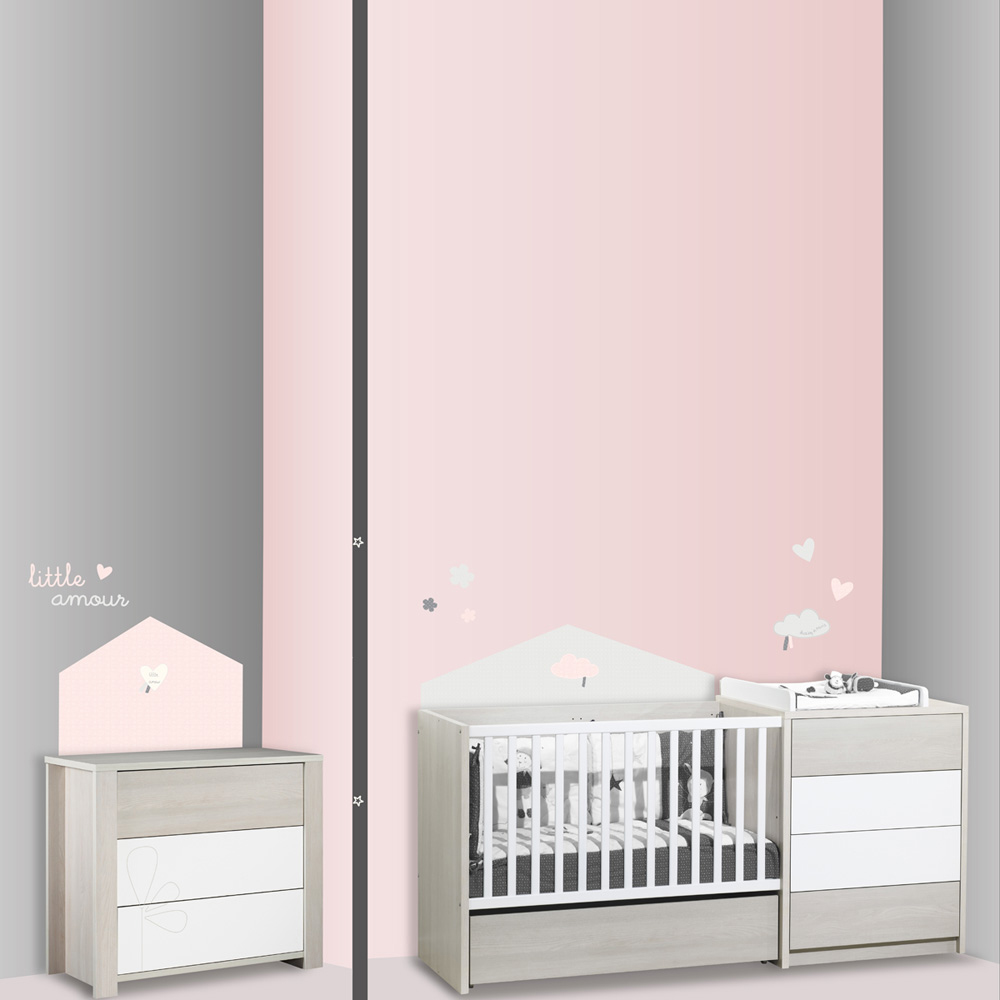 stickers chambre b b home lilibelle de sauthon baby deco. Black Bedroom Furniture Sets. Home Design Ideas