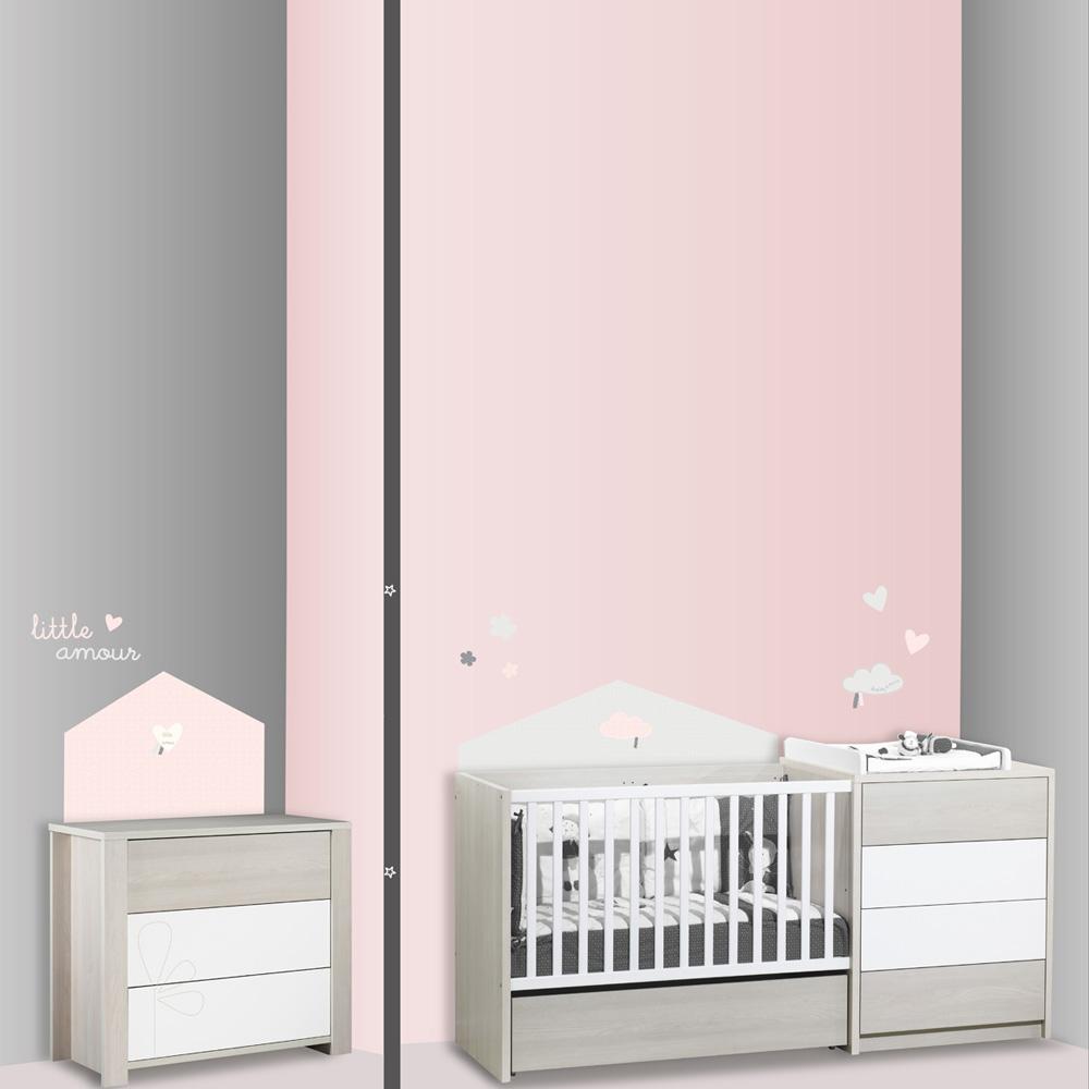 stickers chambre b b home lilibelle de sauthon baby deco sur allob b. Black Bedroom Furniture Sets. Home Design Ideas