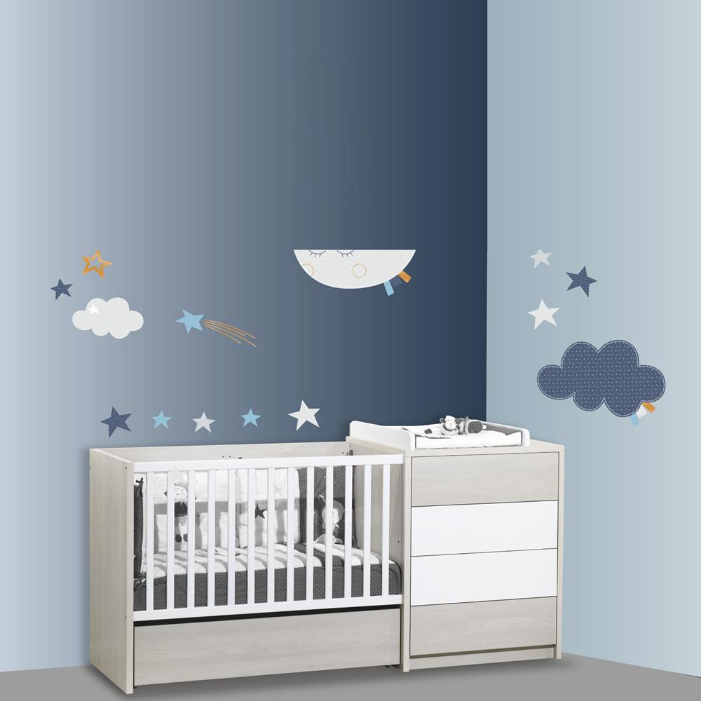 Stickers chambre b b xxl lune merlin de sauthon baby deco for Chambre xxl sauthon