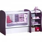 Lit chambre transformable 120x60 pop violette pas cher