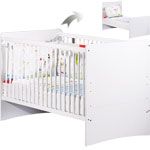 Lit bébé little big bed 70 x 140 cm blanc pas cher