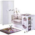 Chambre bébé duo céleste lit transformable et armoire pas cher